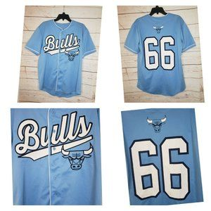 Rare Chicago Bulls NBA Baseball Jersey Mens Medium